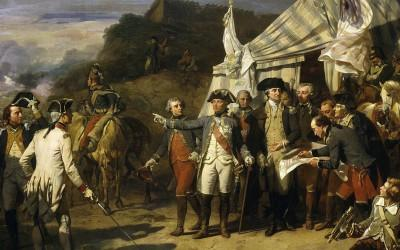 Washington and Rochambeau at Yorktown