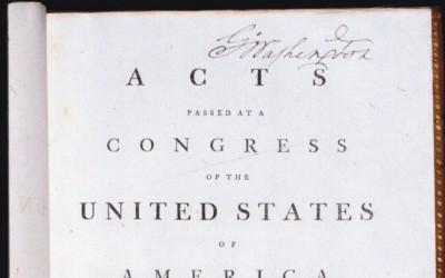 The Opening Page of Washington's Copy of the Acts of Congress