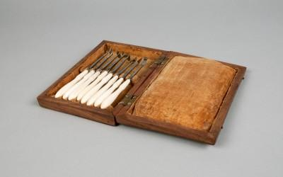Washington's dental scaler set, c. 1790-1802.