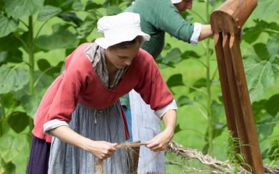 Historic trade demonstrations will be on display in the Historic Area and Pioneer Farm.