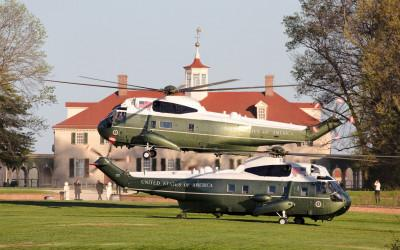 Marine One at Mount Vernon