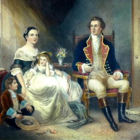 George and Martha Washington are Married