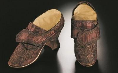 Martha Washington's Wedding Shoes, ca. 1750-1759.
