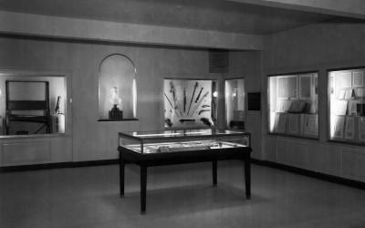 The Houdon Bust in the Museum, 1950s