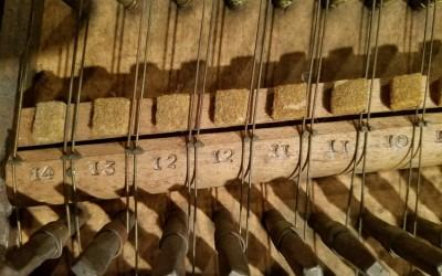 Original wire gauge markings on the nut