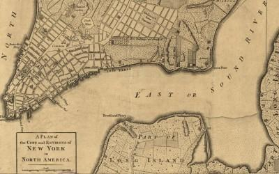 Plan of New York in 1776
