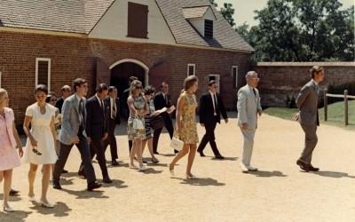 Prince Charles and Princess Anne at the Mount Vernon stables, 1970