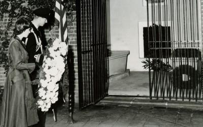 Princess Elizabeth and Prince Phillip at Washington's Tomb, 1951