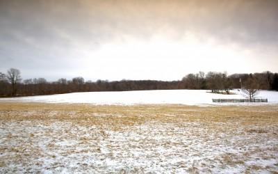 Princeton Battlefield in the Snow