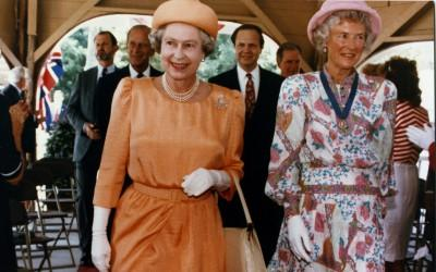 Queen Elizabeth II at the Wharf Dedication in 1991
