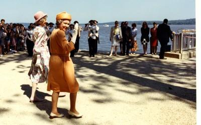 Queen Elizabeth II at the Mount Vernon wharf dedication, 1991