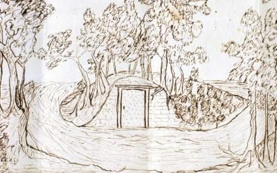 Drawing of the Old Tomb