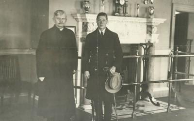 The Prince of Wales and Vice-President Marshall in the New Room, 1919