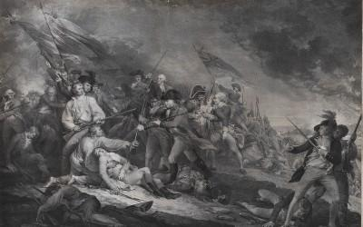 The Battle at Bunker's Hill near Boston, June 17th, 1775