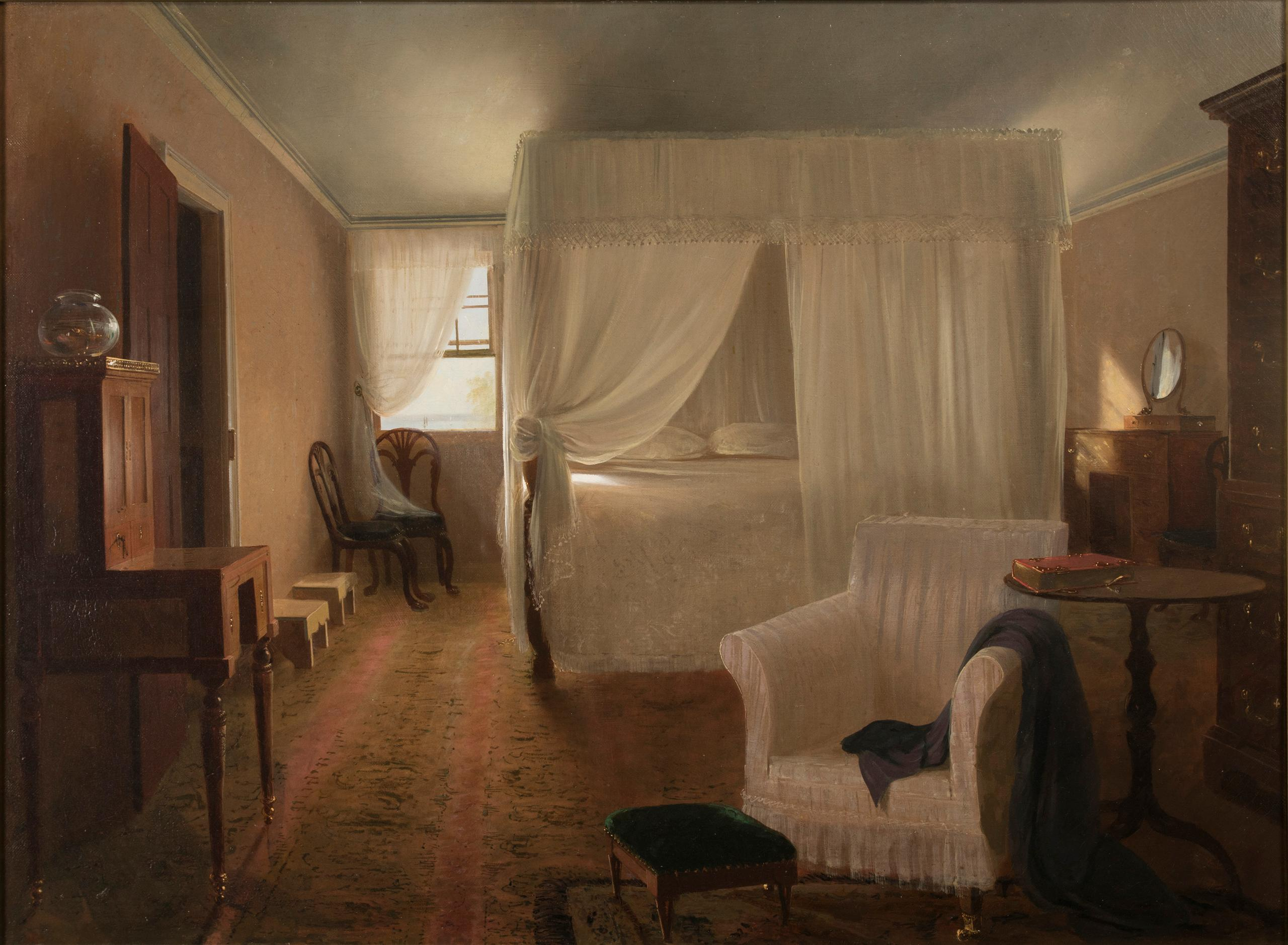 The Bed Chamber of Washington, by John Gadsby Chapman, 1835. Purchased with Funds Provided by Lucy S. Rhame and an Anonymous Donor, 2017.