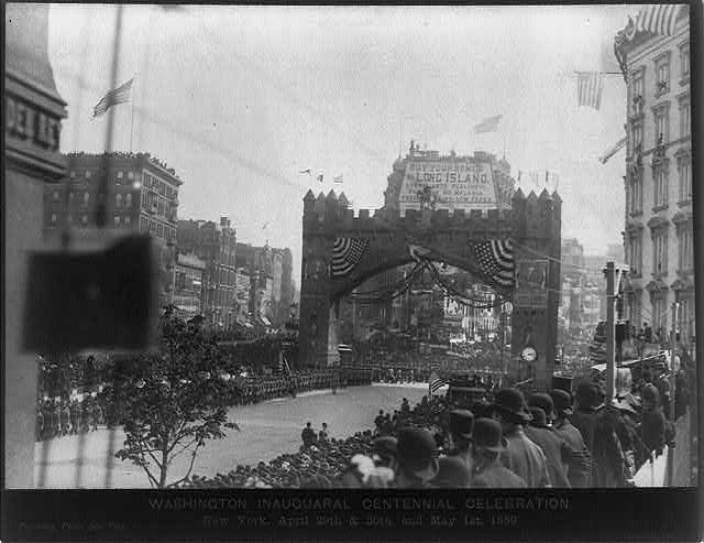 23rd St. Arch, Washington Inaugural Centennial Celebration, New York City, April 29th & 30th, and May 1st, 1889 (Library of Congress)