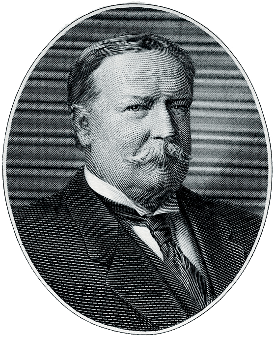 Engraved BEP portrait of U.S. President William Howard Taft (Wikimedia)