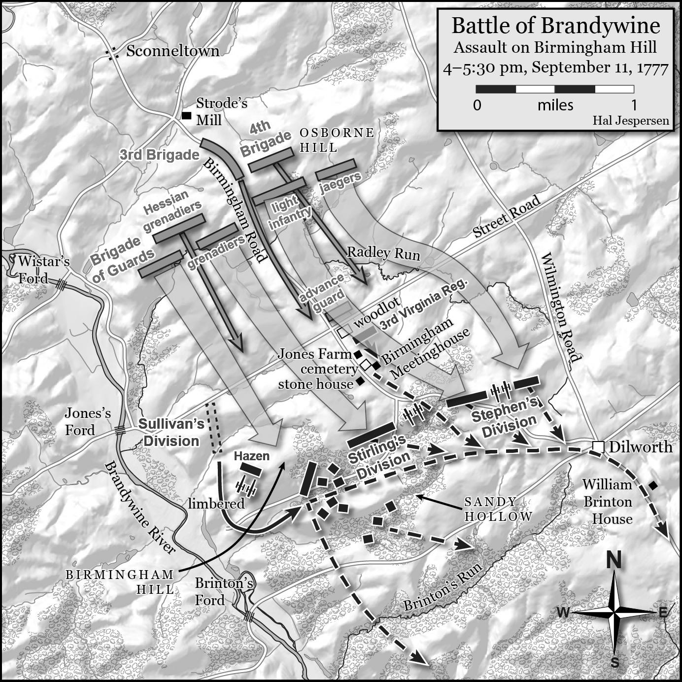 Map of the British attack on Birmingham Hill. One of many great maps on the battle to be found in the book. (Hal Jesperson)
