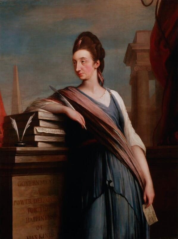 Catharine Macaulay (née Sawbridge)  by Robert Edge Pine oil on canvas, circa 1775. National Portrait Gallery (UK), NPG 5856. CC-by-nc-nd/3.0
