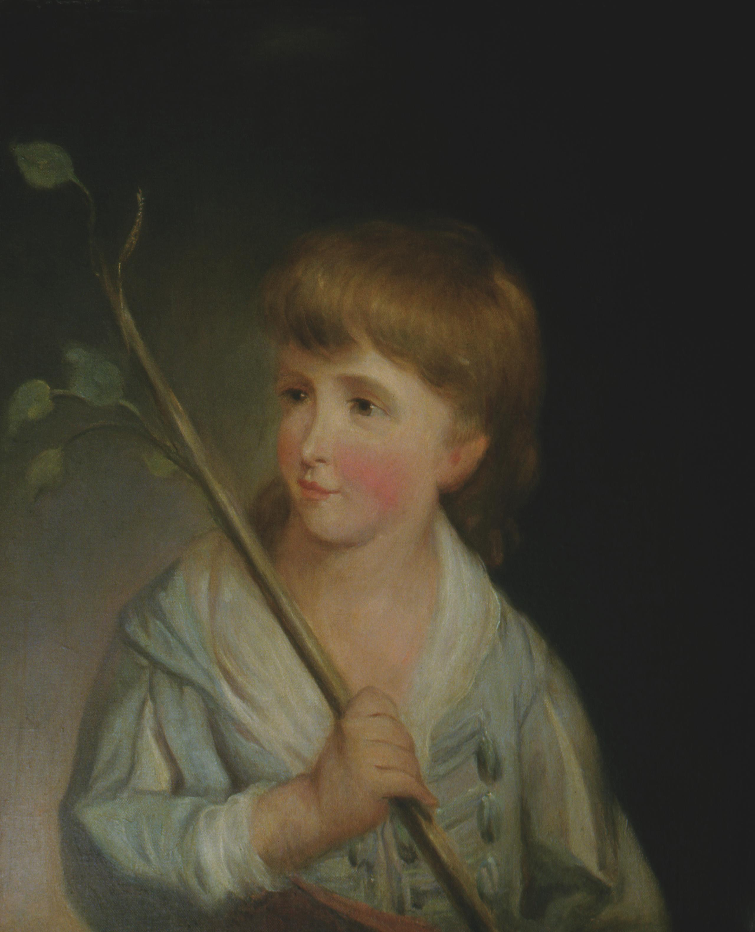 A four-year-old Custis appears in the artist Adrian Lamb's modern copy of Robert Edge Pine's 1785 portrait. MVLA.