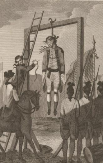 Death of Maj. John Andre (Anne S.K. Brown Military Collection)