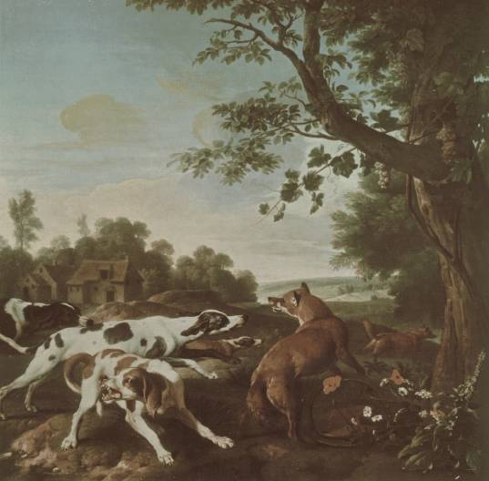 Early 18th century depiction of a fox hunt by Alexandre-François Desportes (Wikimedia)