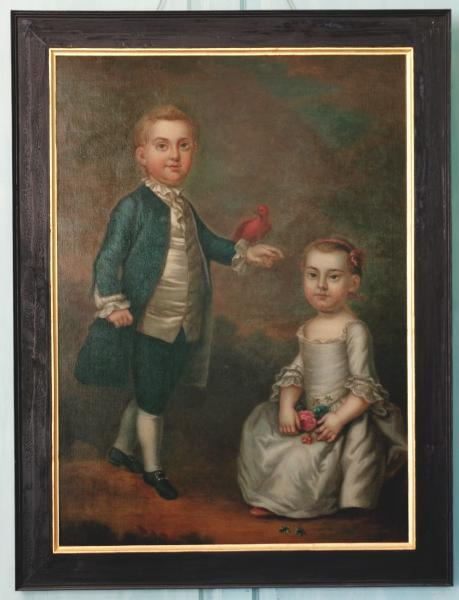 "John ""Jacky"" Parke Custis and Martha Parke Custis, By Charles Volkmar After John Wollaston, 1757"