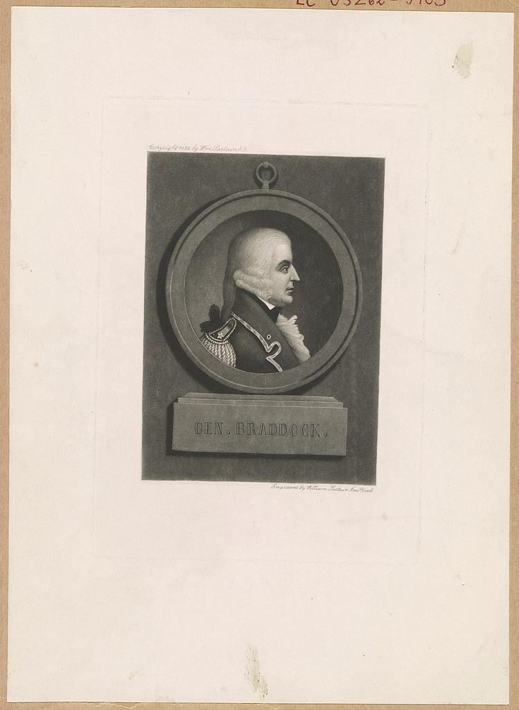 Gen. Braddock, Engraved by William Sartain, New York. c1899. Library of Congress