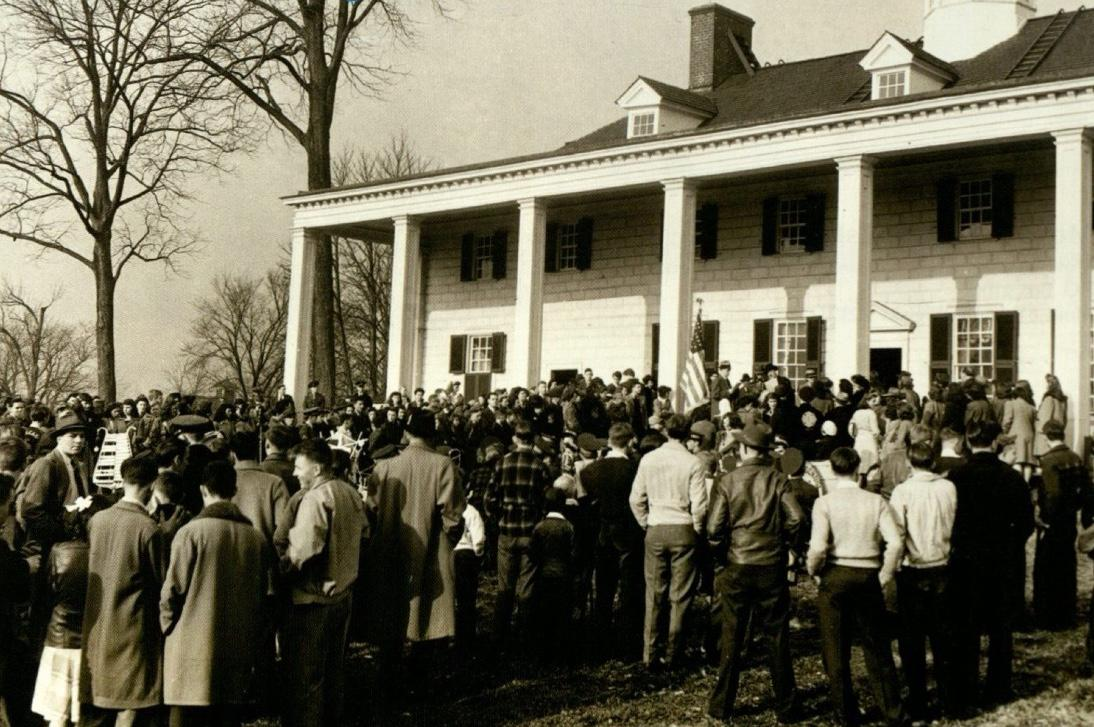 The first George Washington's Birthday celebration where guests were permitted to enter for free. (MVLA)