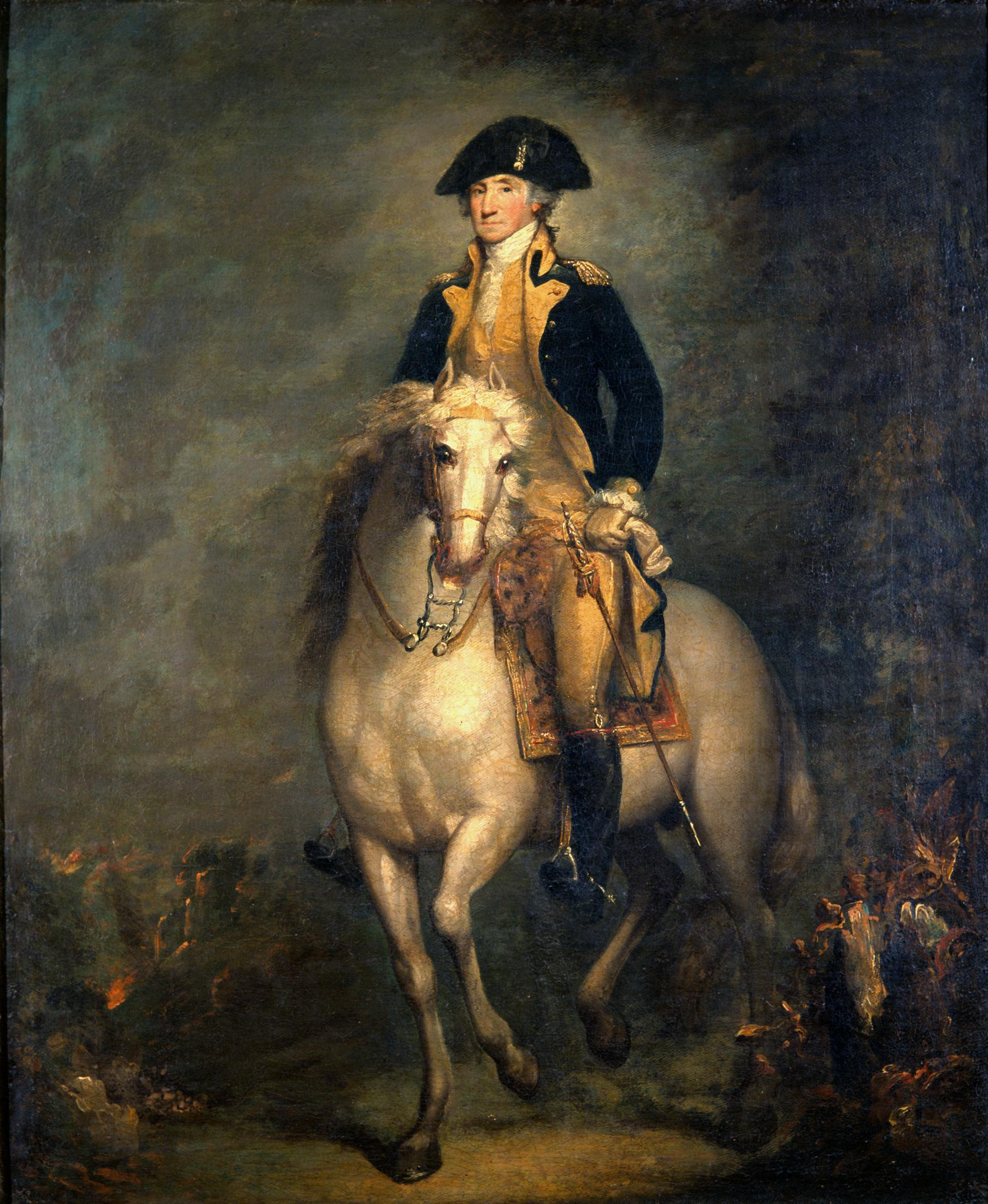 During the American Revolution, Washington was gifted two horses, Nelson and Blueskin (sometimes written as Blewskin), who returned with Washington to Mount Vernon after the war.
