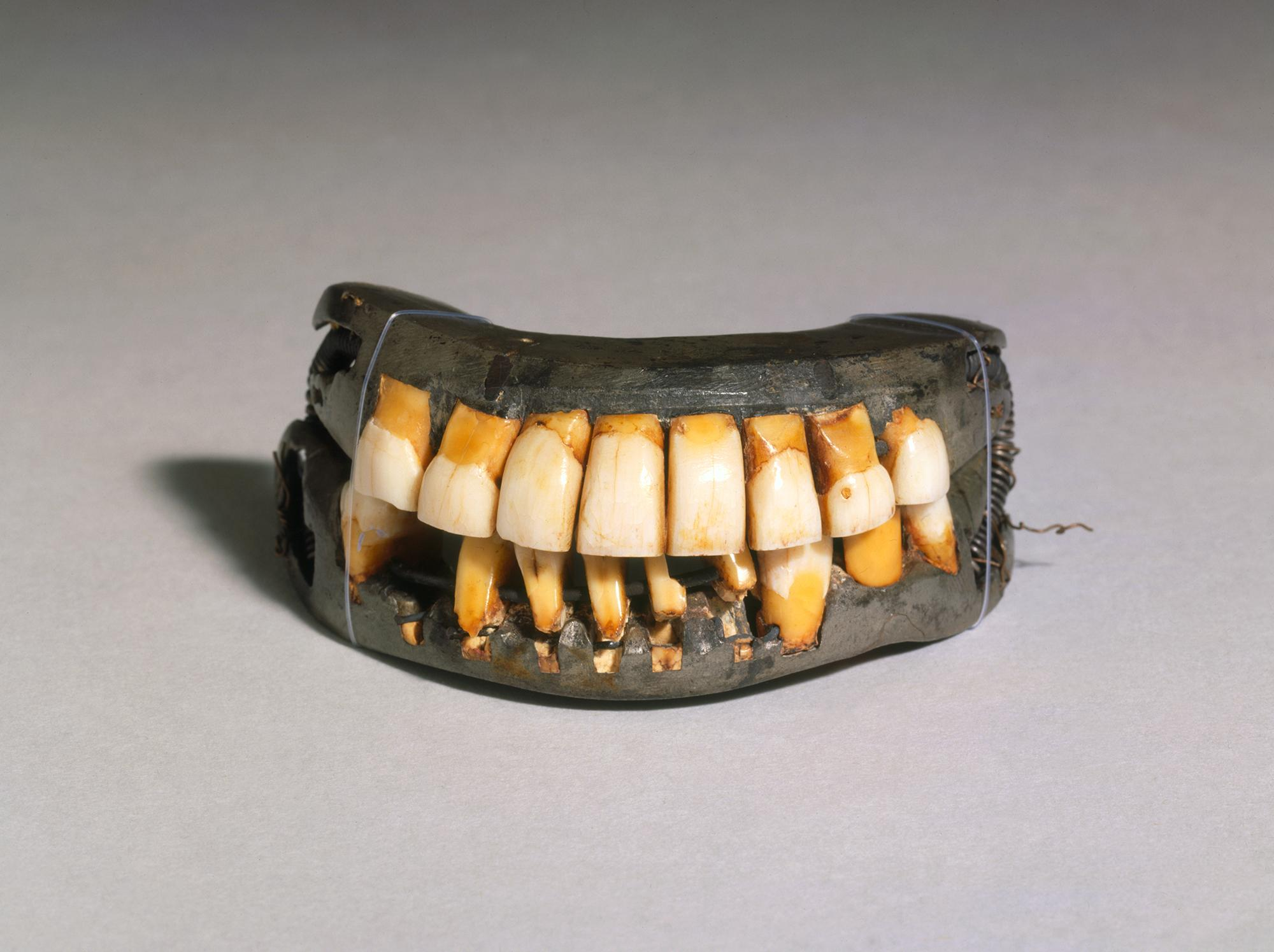 A pair of George Washington's dentures, ca. 1790-1799. MVLA