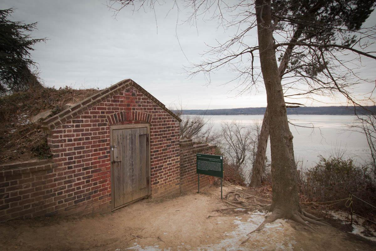 The ice house is located south east of the manor, overlooking The Potomac (Ethan Guralnick)