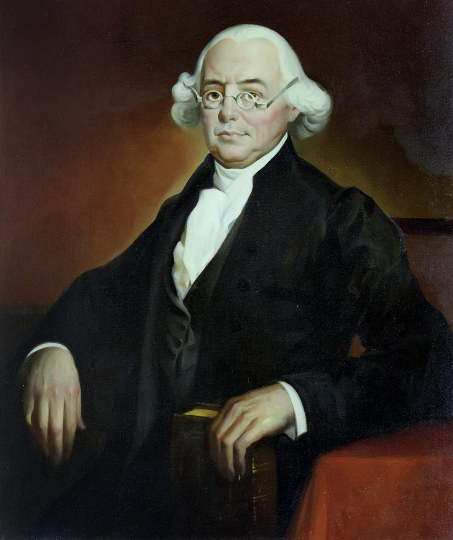 James Wilson as an Associate Justice of the Supreme Court by Robert S. Susan (c. 1936).  Collection of the Supreme Court of the United States. Wikipedia, Public Domain.