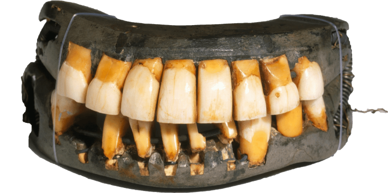 See Washington's false teeth in the collection at Mount Vernon – the only remaining full-set in existence. (MVLA)