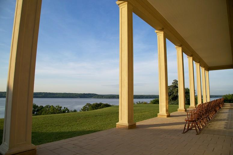 Landscape view from the Mount Vernon piazza