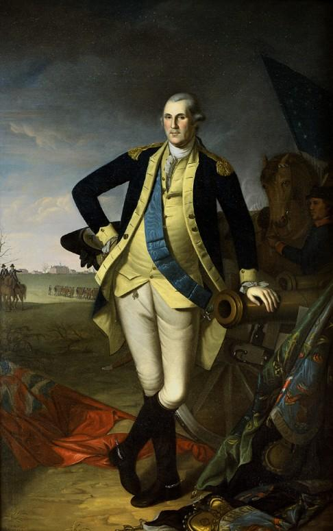 General George Washington commanded the American forces at Brandywine. (U.S. Senate Collection)