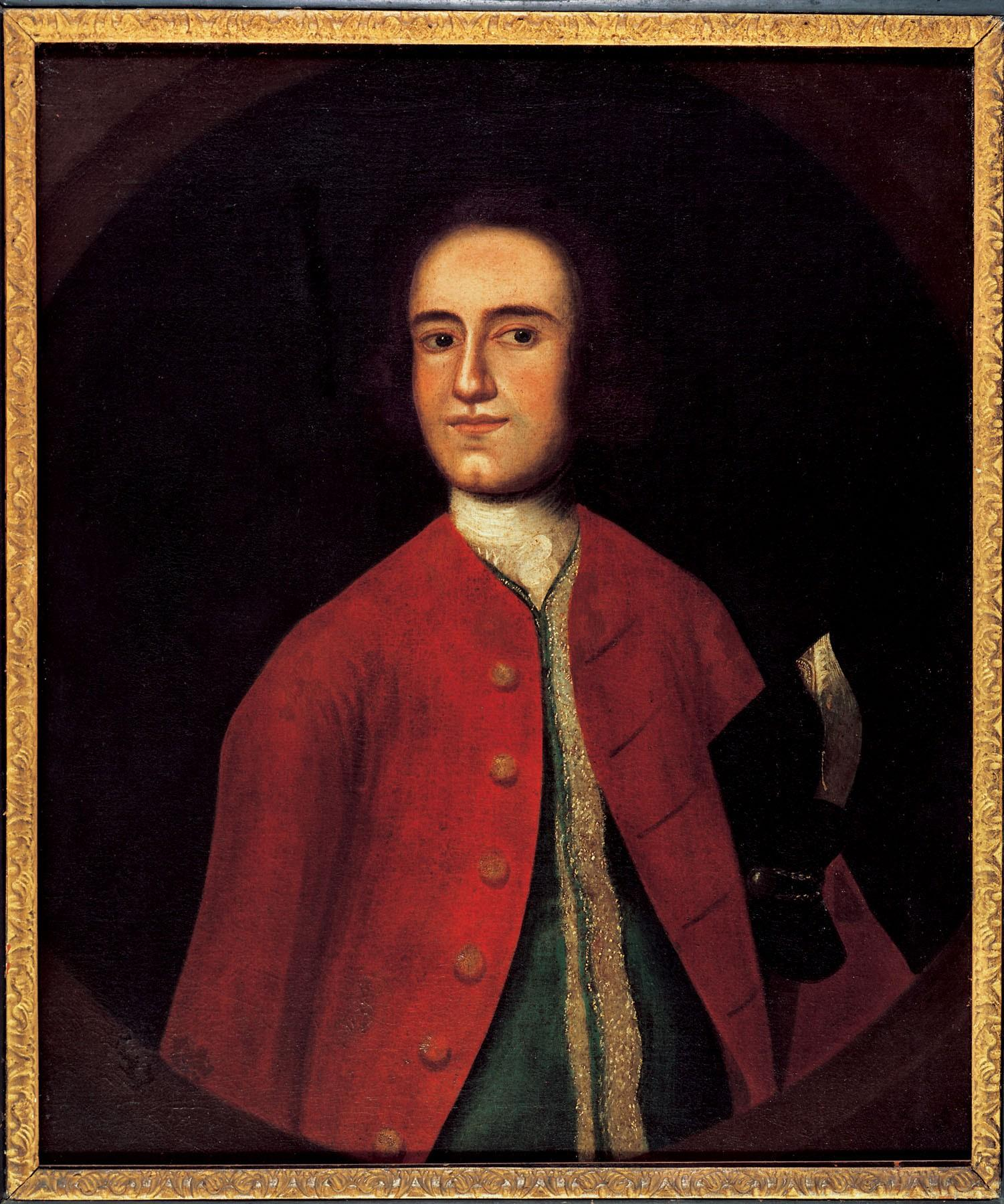 Lawrence Washington, attributed to Gustavus Hesselius, ca. 1738 (MVLA)
