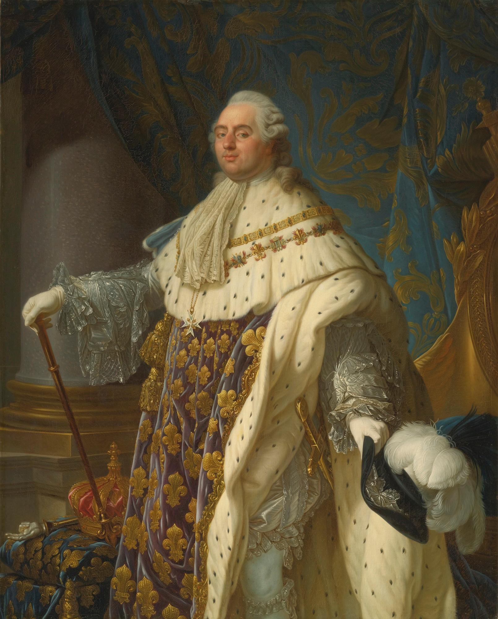 Portrait of Louis XVI of France in Coronation Robes (Wikimedia)