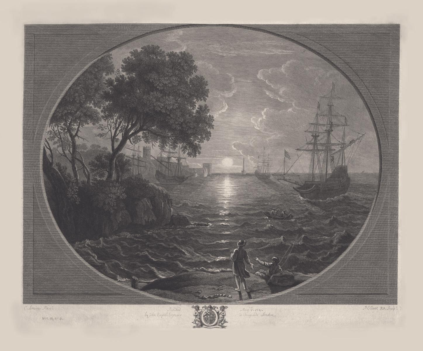 Sun Rising, 1771, after Claude Lorraine. Purchase, 1936 [M-93/M].