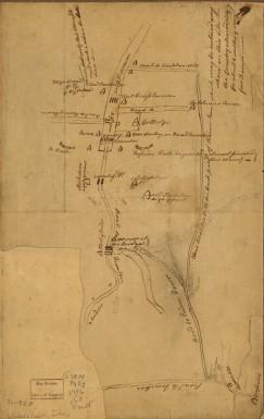 Plan of Princeton, Dec. 31, 1776 by John Cadwalader (Library of Congress Map Division)