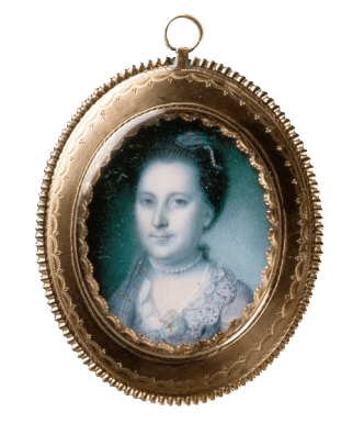 This miniature portrait painted in 1772 by Charles Wilson Peale is the earliest depiction of Martha after her marriage to George Washington (Mount Vernon Ladies Association)