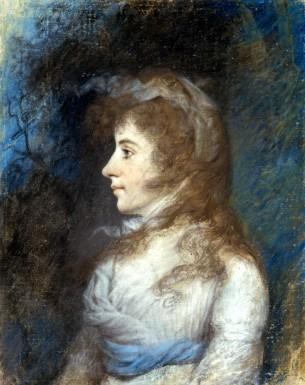 Profile Portrait of Eleanor (Nelly) Parke Custis by James Sharples (Mount Vernon Ladies' Association)