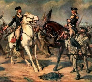 """Washington at the Battle of Monmouth"" (John Ward Dunsmore - 1908)"