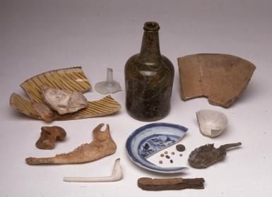 Selected artifacts recovered during the House for Families excavation