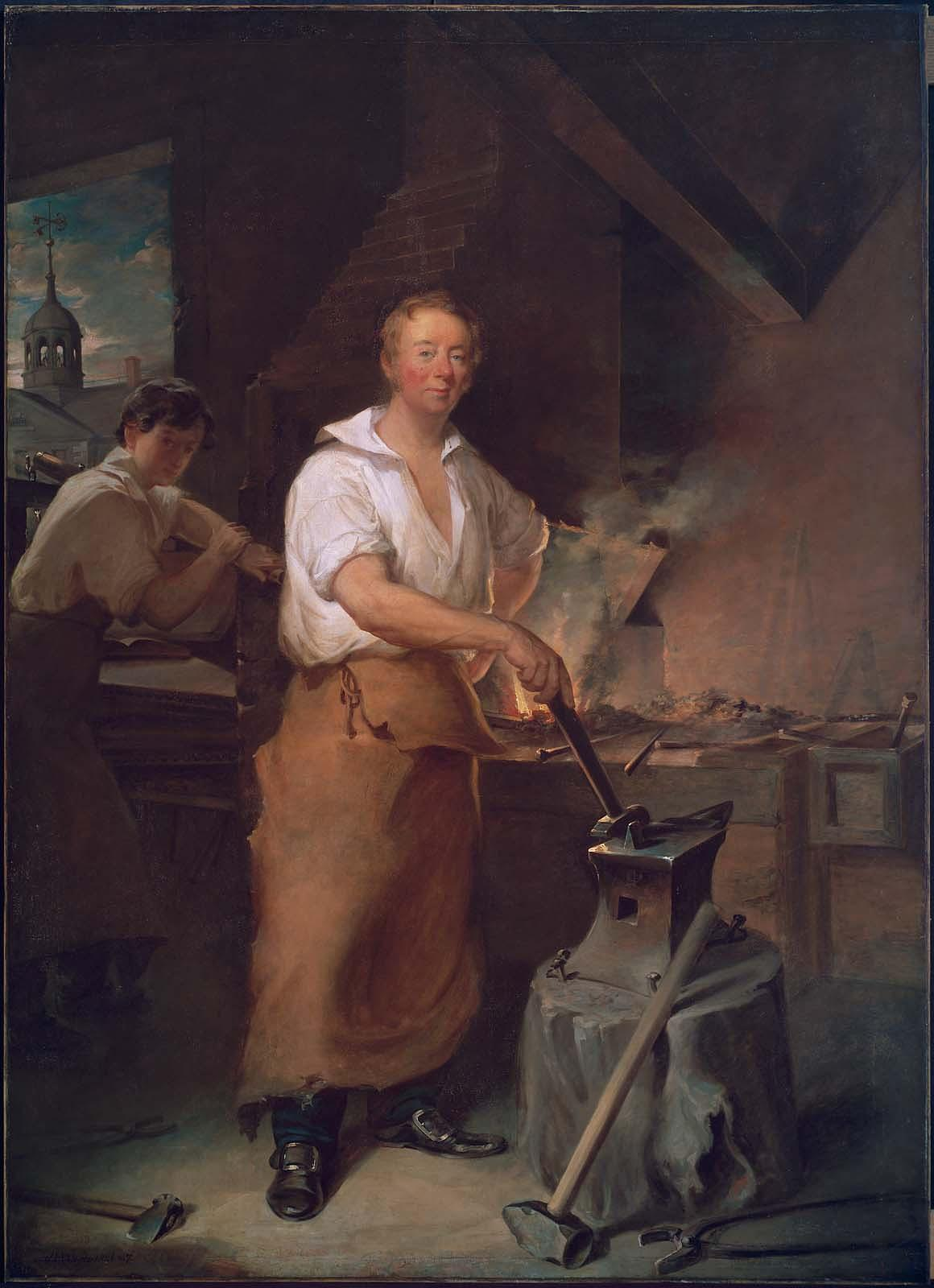 Pat Lyon at the Forge (ca. 1826-1827). Courtesy of the Museum of Fine Arts: Boston, 1975.806.