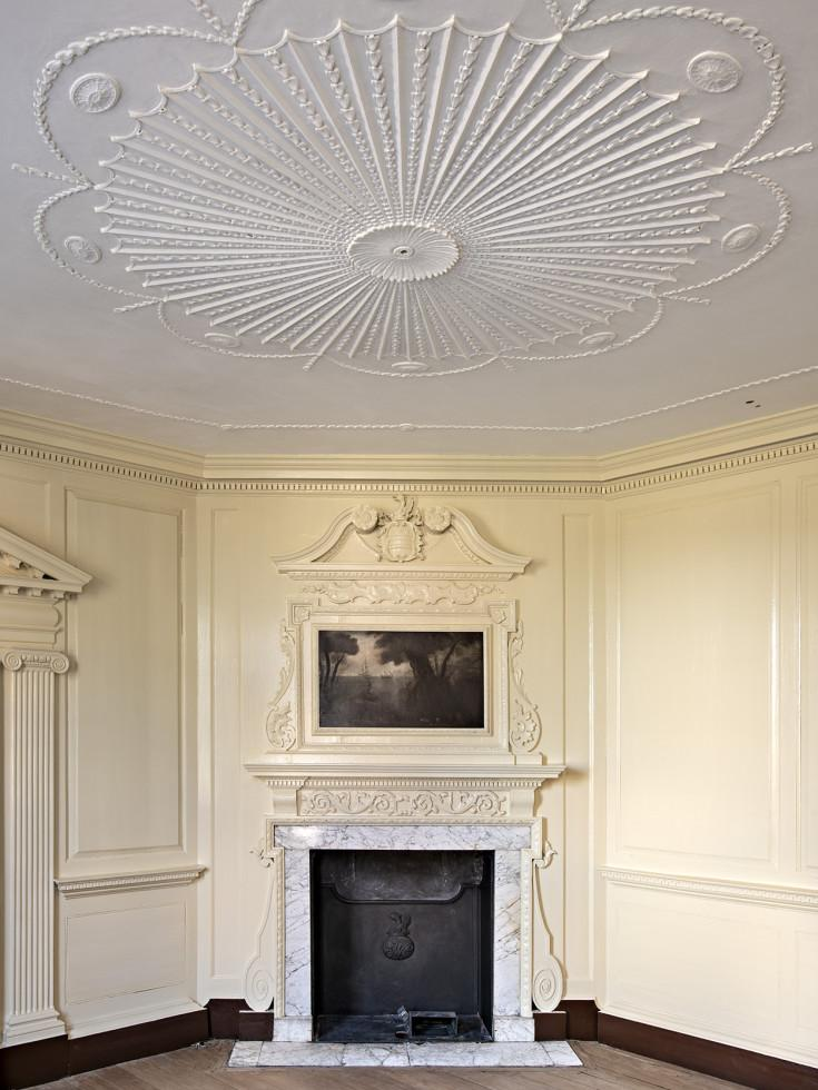 George Washington's front parlor after restoration work, MVLA.