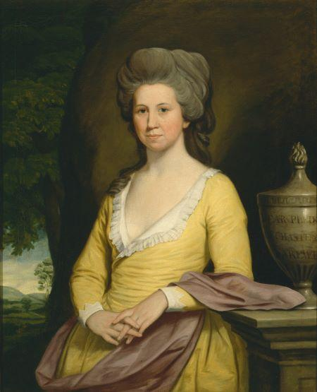 Elizabeth Willing Powel, ca. 1793, courtesy of the Pennsylvania Academy of Fine Arts.
