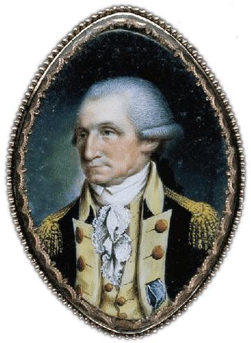 Miniature portrait of President Washington by John Ramage, c.1789 (MVLA)