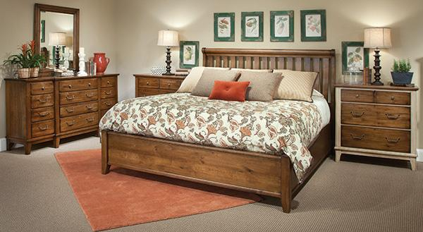 7f3f80f73b6 The first collection of bedroom pieces feature a distressed wood finish