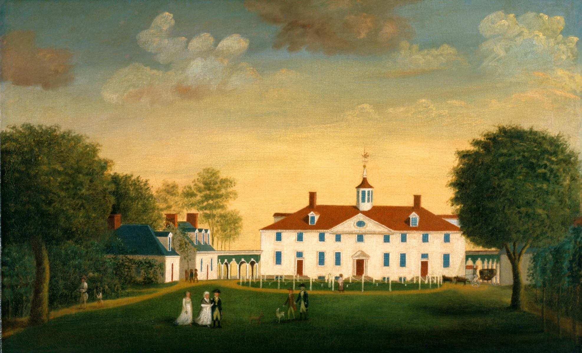 Washington was looking forward to a more private life as a farmer at Mount Vernon after the war (Edward Savage)